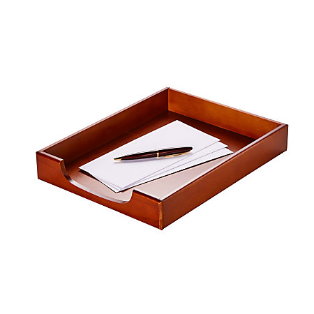 395741 rolodex wood tones letter tray