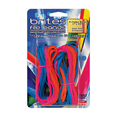 Alliance Brites File Bands Assorted Pack