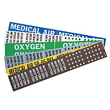 Brady Medical Air Gas Pipe Marker
