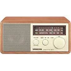 Sangean FM AM Analog Wooden Cabinet