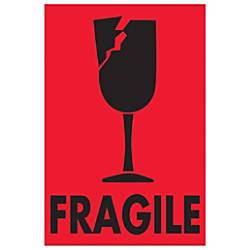Tape Logic Preprinted Labels Fragile Breakable