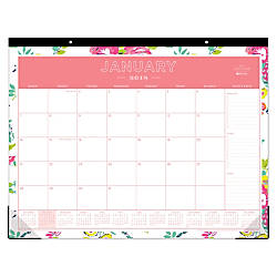 Day Designer for Blue Sky Monthly Desk Pad Calendar 22 x ...