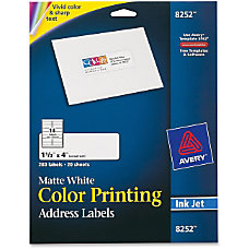 Avery Color Printing Labels 133 Width