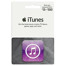 iTunes 15 500 Gift Card Itunes