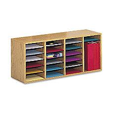 Safco Adjustable Wood Literature Organizer 16