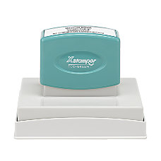 ECO GREEN Xstamper Pre Inked Notary