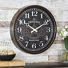 FirsTime Industrial Gears Round Wall Clock