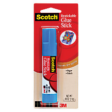 Scotch Restickable Glue Stick 049 Oz