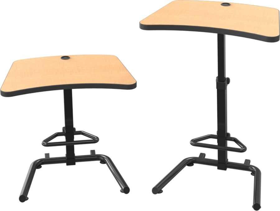Balt Up Rite Student Height Adjustable SitStand Desk Pewter