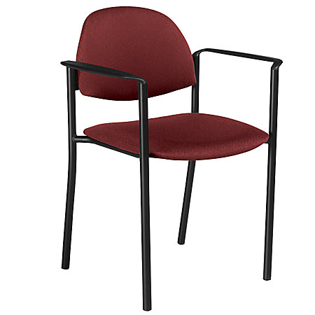 Global Comet Stacking Chairs With Arms 32 12 H X 23 W X 22 D Burgundy Fabric