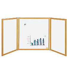 MasterVision Slim Enclosed 3 Panel Dry