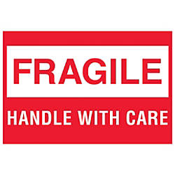 Tape Logic Preprinted Labels Fragile Handle