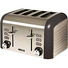 Nesco Four Slice Toaster Thunder Grey