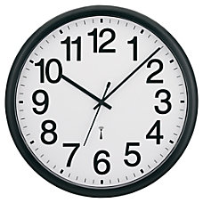 Tempus Commercial Clock BlackWhite