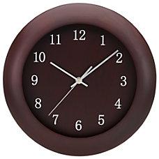 Tempus Wood Clock 12 MahoganySilver