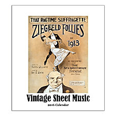 Retrospect Monthly Desk Calendar Sheet Music