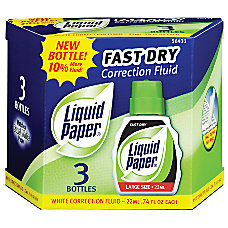 Paper Mate Liquid Paper Correction Fluid
