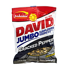 David Jumbo Sunflower Seed Pouches Cracked