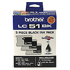 Brother LC51BK Black Ink Cartridges Pack