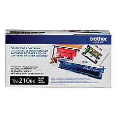 Brother TN 210BK Black Toner Cartridge