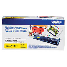 Brother TN 210Y Yellow Toner Cartridge