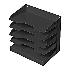 Steel Horizontal File 5 Shelf Black