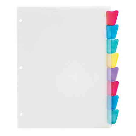 Office depot brand plastic dividers with insertable for Office depot divider templates
