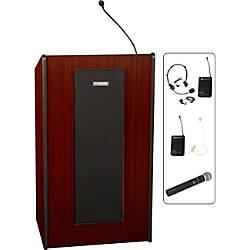 AmpuVox Presidential Plus Wireless Lectern Mahogany