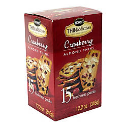 THINaddictives Cranberry Almond Thins 3 Thins