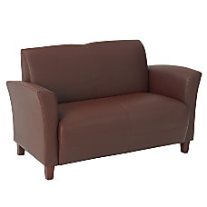 Office Star Breeze Eco Leather Loveseat