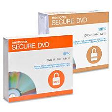 Memorex 5 Pack Secure DVD 46GB