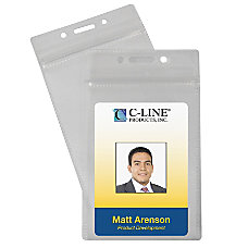 C Line Zippered Badge Holders 3