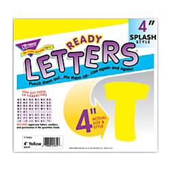TREND Ready Letters 4 Splash Uppercase