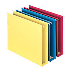 "Smead® Premium Box-Bottom Hanging Folders, 2"" Expansion, Letter Size, Assortment, Box Of 25"