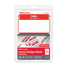 Office Depot Brand Hello Name Badge