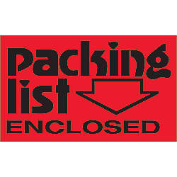 Tape Logic Preprinted Labels Packing List