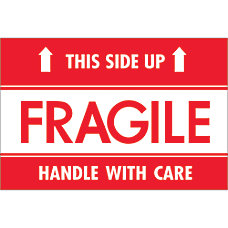 Tape Logic Preprinted Labels Fragile This