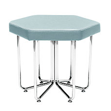 OFM Hex Series Stool AquaChrome