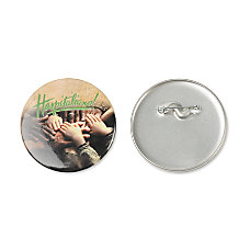 Large Round Button 3 White