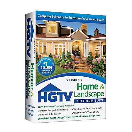 Hgtv home landscape platinum suite 3 0 traditional disc by for Home landscape design suite 8 0