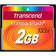 Transcend 2GB CompactFlash Card 133x