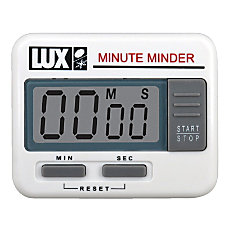 Lux Electronic Minute Minder Timer White