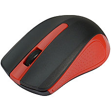 SIIG 24GHz Wireless Optical Mouse Red