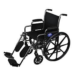 Medline K1 Basic Wheelchair Elevating Removable