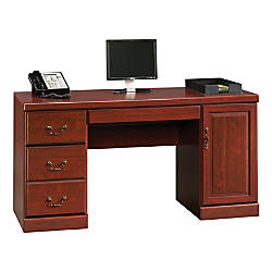 Sauder Heritage Hill Computer Credenza Classic Cherry By