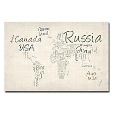 Trademark Global Typography World Map Gallery