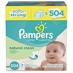 Pampers Natrl Clean Wipes Refill Green