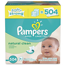Pampers Natural Clean Wipes Box Green