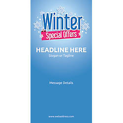 Custom Vertical Banner Winter Special Offers