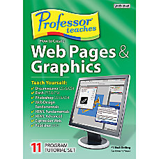 Professor Teaches Web Pages Graphics 8